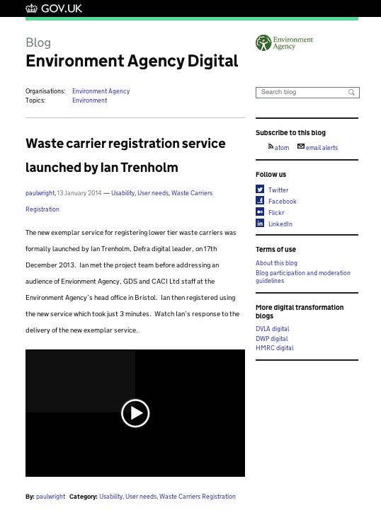 Environment Agency blog