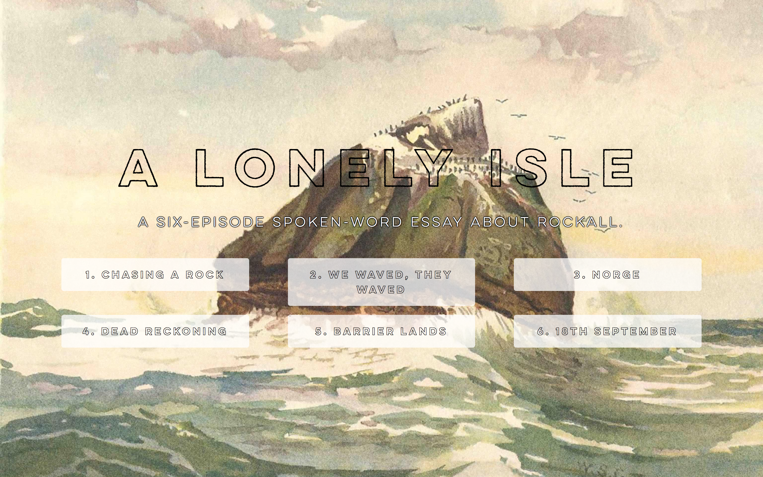 A lonely isle cover
